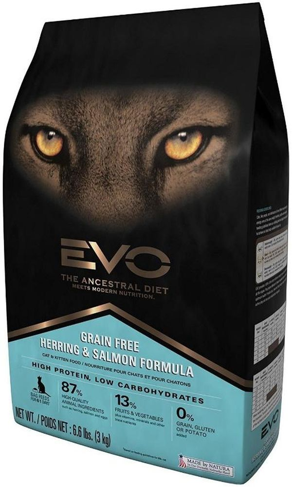 EVO Herring & Salmon Dry Cat Food