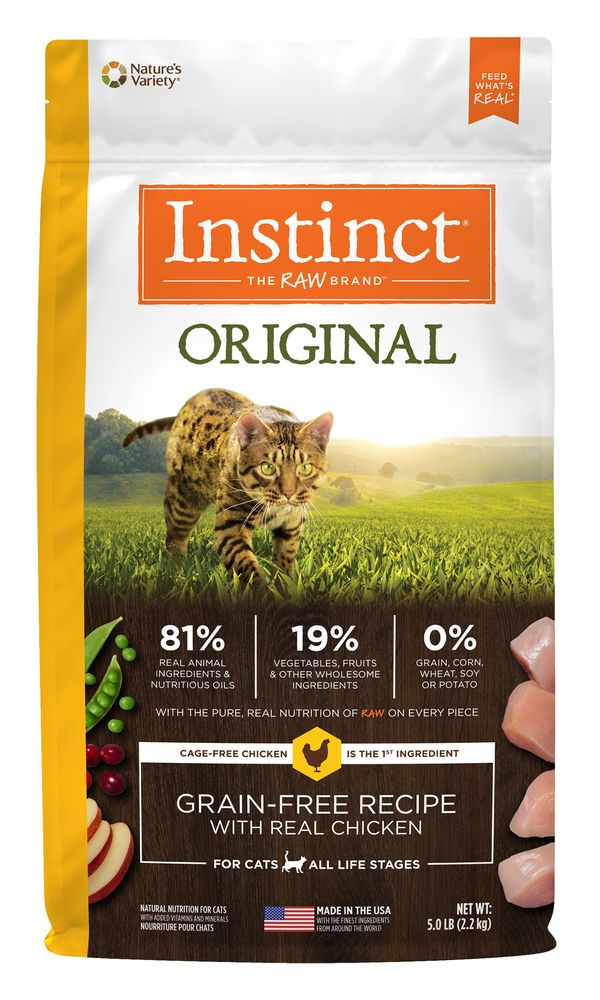 Natures Variety Instinct Original Grain Free Recipe Natural Dry Cat Food