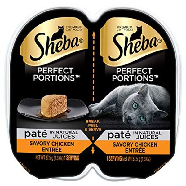 Sheba Perfect Portions Pate Wet Cat Food Trays