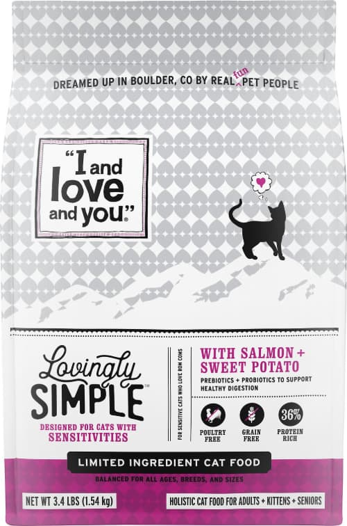I and Love and You Lovingly Simple LID Salmon & Sweet Potato Dry Cat Food