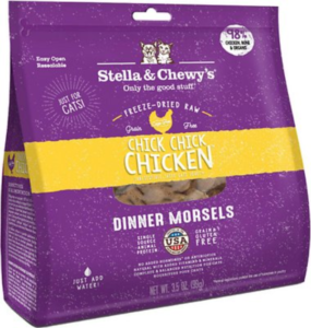 Stella & Chewy's Chick Chick Chicken Dinner Morsels - Best freeze-dried cat food