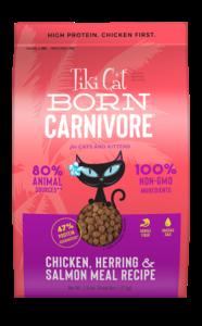 Tiki Cat - Born Carnivore Chicken, Herring & Salmon - Best dry cat food for allergies